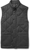 Dunhill - Quilted Mélange Wool-twill Gilet