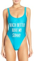Private Party Women's 'Beach Better Have My Sunny' One-Piece Swimsuit