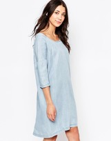Ichi 3/4 Sleeve Denim Shift Dress
