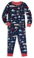 Hatley Little Boy's & Boy's Two-Piece Vintage Nautical Printed Tee & Pants Pajama Set