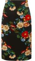 Dorothy Perkins Womens Black Floral Print Pencil Skirt