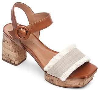 Bernardo Women's Reagan Fringe Block-Heel Platform Sandals