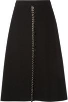Alexander Wang Embellished Crepe Midi Skirt - Black
