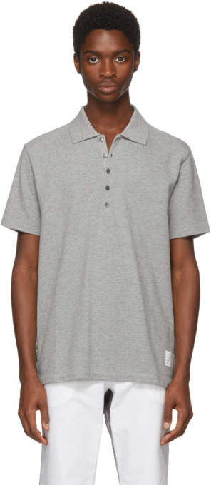 Thom Browne Grey Relaxed Fit Polo