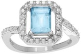 Journee Collection 1/2 CT. T.W. Square-cut CZ Basket Set Diamond Accent Ring in Sterling Silver