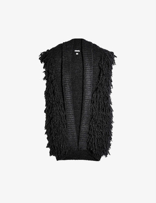 Topshop Shaggy knitted gilet