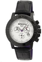 Breed Von Marcus Collection BRD6703 Men's Stainless Steel Watch with Leather Strap