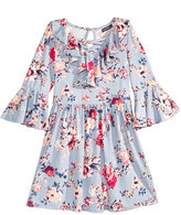 Sequin Hearts Floral-Print Dress, Big Girls (7-16)