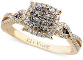 LeVian Le Vian Chocolate (3/8 ct. t.w.) and White (1/3 ct. t.w.) Diamond Braided Ring in 14k Gold