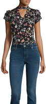 BY AND BY by&by Short Sleeve Bodysuit-Juniors