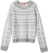 Joe Fresh Kid Girls' Fair Isle Sweater, Light Grey Mix (Size S)
