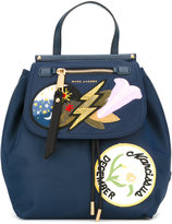 Marc Jacobs badge patch backpack - women - Nylon - One Size