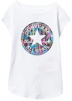Converse White Filled Chucks Drop Shoulder Tee