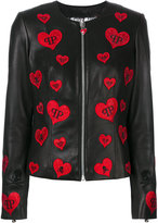 Philipp Plein heart patch jacket