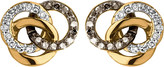 Links of London Treasured 18ct gold vermeil and diamond stud earrings