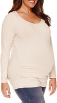 Asstd National Brand Long Sleeve Scoop Neck T-Shirt-Maternity