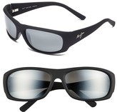 Maui Jim Men's 'Ikaika - Polarizedplus2' 64Mm Sunglasses - Matte Black Grey
