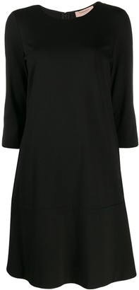 Twin-Set cropped sleeve shift dress