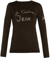 Bella Freud Je t'aime Jane wool-blend sweater