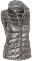 Hot From Hollywood Women's Zip Front Outdoor Packable Puffer Down Vest