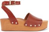 Sam Edelman Brynn leather wedge sandals
