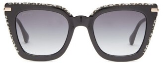 Jimmy Choo Ciara Square Acetate And Metal Sunglasses - Womens - Black Multi