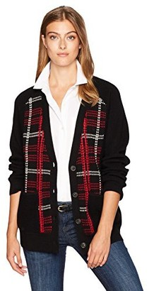 Pendleton Women's Plaid Merino Cardigan Sweater
