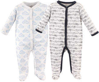 Hudson Baby Sleep and Play, 2-Pack, 0-9 Months