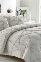 California Design Den by NMK Crazy Ruffled Quilt Set - Light Grey