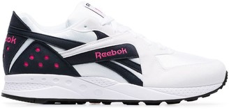 Reebok Pyro blue and pink detail sneakers