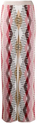 Missoni Geometric Knit Flared Trousers