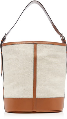 Hunting Season Leather-Trimmed Fique and Canvas Tote Bag