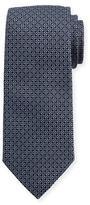 Eton Woven Dotted Fancy Box Silk Tie, Blue