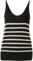 KHAITE cashmere stripped vest top