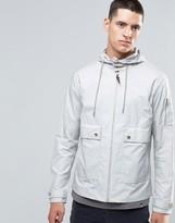 Pretty Green Jacket With Hood Showerproof In Slim Fit Gray