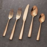Crate & Barrel Couture Rose Gold 5-Piece Flatware Place Setting