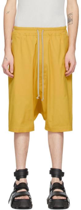 Rick Owens Yellow Ricks Pods Shorts