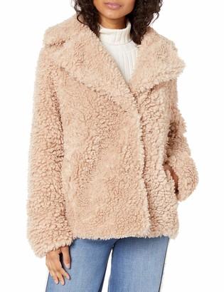 Kensie Women's Faux Fur Reversible Coat