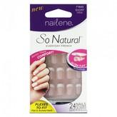 Nailene So Natural Ultra Flex Pink French Short 24 pack