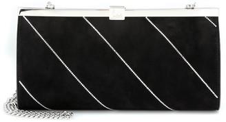 Christian Louboutin Palmette embellished suede clutch