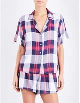Rails Checked woven pyjama set