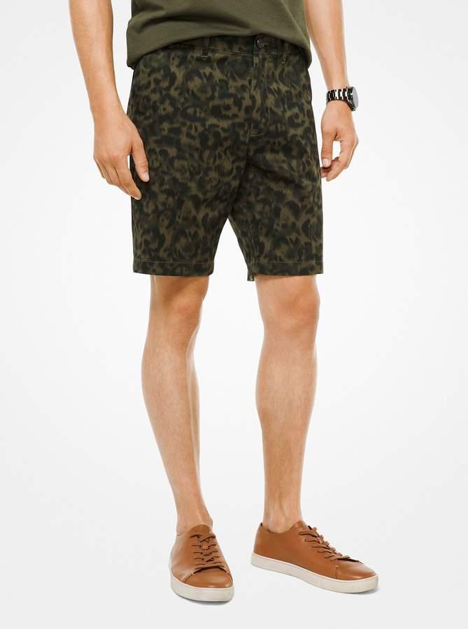 Michael Kors Stretch-Cotton Camouflage Shorts