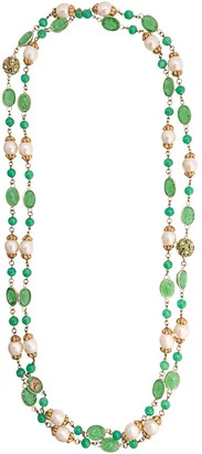 Chanel Pre-Owned 1970's green stone necklace