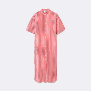 Lacoste Live Robes Buttoned Maxi Dress - 34 / ROJO / WOM