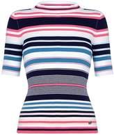 Yumi Womens/Ladies Stripe Ribbed Jumper (L)