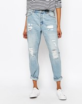 Monki Distressed Washed Boyfriend Jeans - ShopStyle