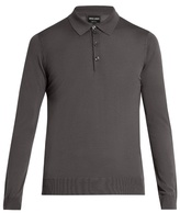 Giorgio Armani Long-sleeved Wool Polo Shirt