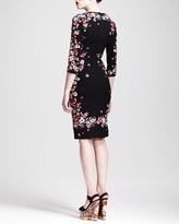Dolce & Gabbana Square-Neck Floral Sheath Dress