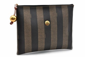 Fendi Brown Leather Clutch bags