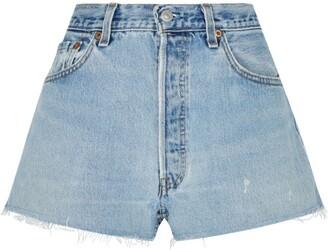RE/DONE Frayed Hem Shorts